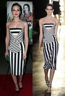 Runway to Real Life: Leighton Meester in Cushnie et Ochs, Keira Knightley in Holly Fulton and More (Forum Buzz)