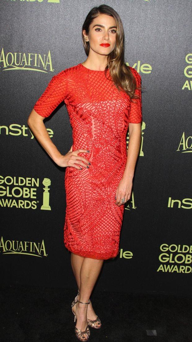 Nikki Reed celebrates the 2015 Golden Globe Awards