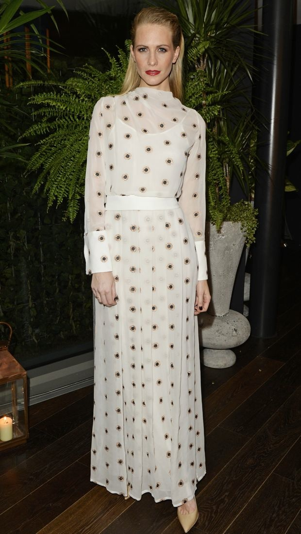 Poppy Delevingne wears an Osman Resort 2015 ensemble