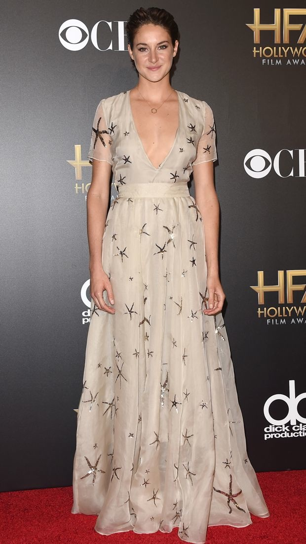Shailene Woodley wears a starry Valentino gown
