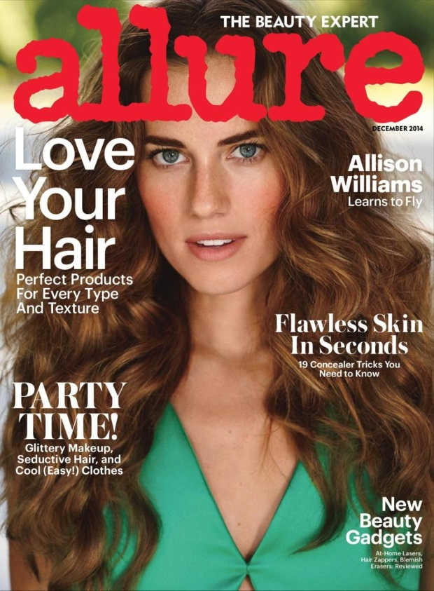 Allure December 2014 Allison Williams