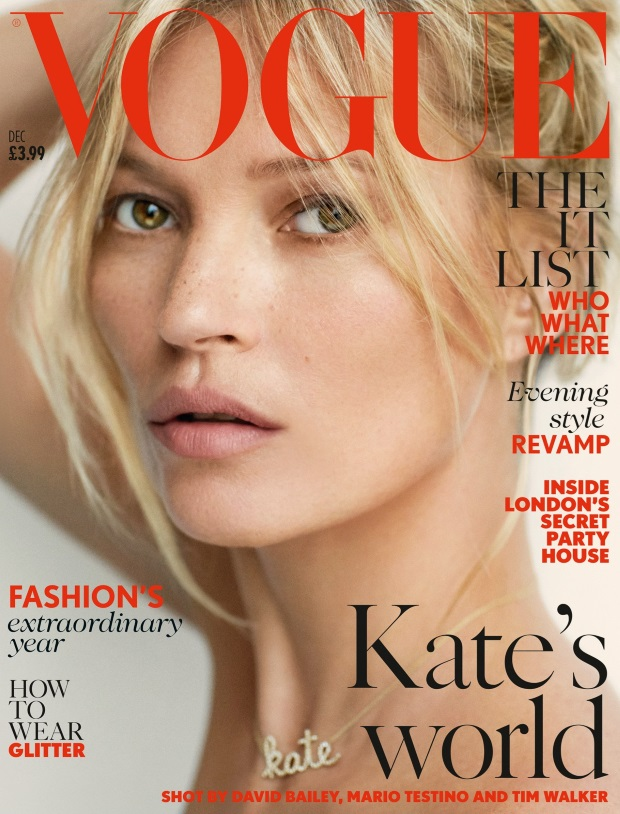 UK Vogue December 2014 Kate Moss Mario Testino