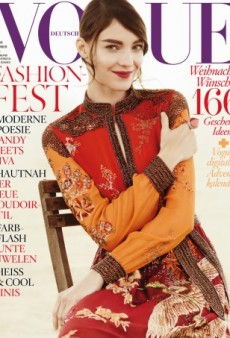 Kati Nescher Wears Gucci Spring 2015 on the December Cover of Vogue Germany (Forum Buzz)