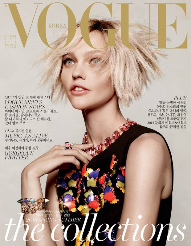 Vogue Korea December 2014 Sasha Pivovarova