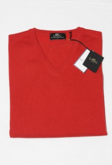 Cashemere V-neck Sweater - ROUGE