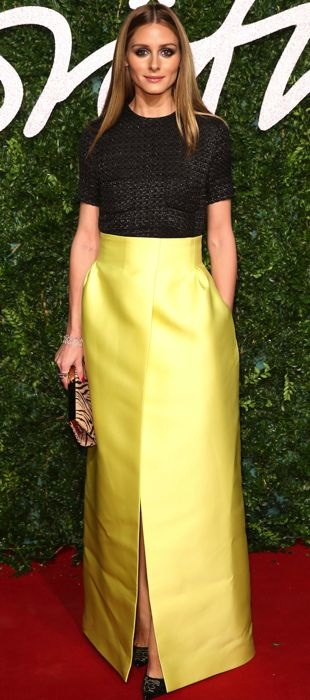 Olivia Palermo in Emilia Wickstead at the British Fashion Awards