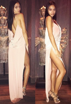 Shanina Shaik Flaunts a Buttload of Skin for the Victoria's Secret Fashion Show Viewing Party