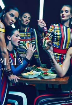 Adriana, Joan, Rosie, Isabelli and Crista Pose Together for Balmain's Spring 2015 Ads (Forum Buzz)