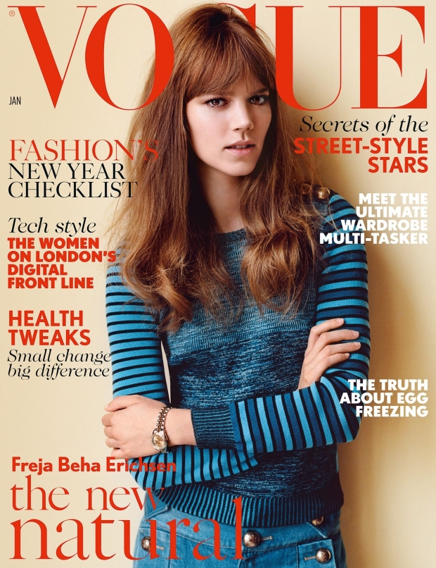 UK Vogue Jan 2015 Freja Beha Erichsen