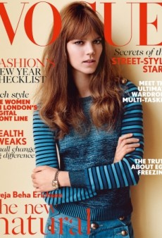 Freja Beha Erichsen Shows Off 'The New Natural' on UK Vogue's January Cover (Forum Buzz)