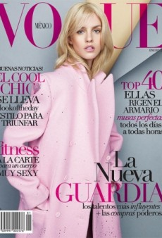 Julia Frauche Is Pretty in Pink for Vogue Mexico's January Cover (Forum Buzz)