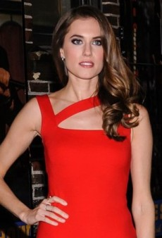Allison Williams Sizzles in a Little Red Dress