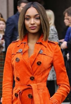 Jourdan Dunn Checks Out the Fellas in an Orange Burberry Trench