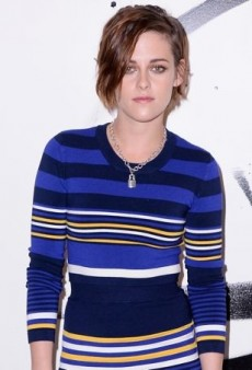 Kristen Stewart Stands Out in a Striped Torn by Ronny Kobo Ensemble