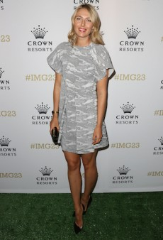 Maria Sharapova Sports Antonio Berardi in Melbourne