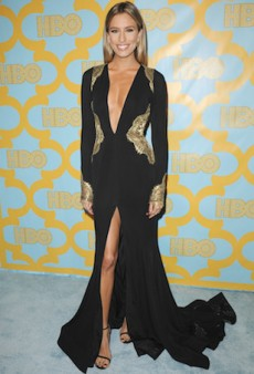 Renee Bargh Shines in MT Costello for the Golden Globes After-Party