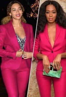 Style Showdown: Beyoncé and Solange Wear the Same Fuchsia Gucci Suit and More Matching Celebs