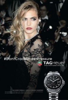 TAG Heuer Taps Cara Delevingne for Latest Campaign