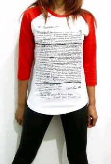Some Sicko Is Selling T-Shirts Printed with Kurt Cobain's Suicide Note
