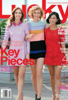Surprise! Three Bloggers Cover Lucky's February Issue