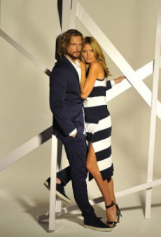 Heidi Klum and Gabriel Aubry Front Macy's INC 30th Anniversary Campaign