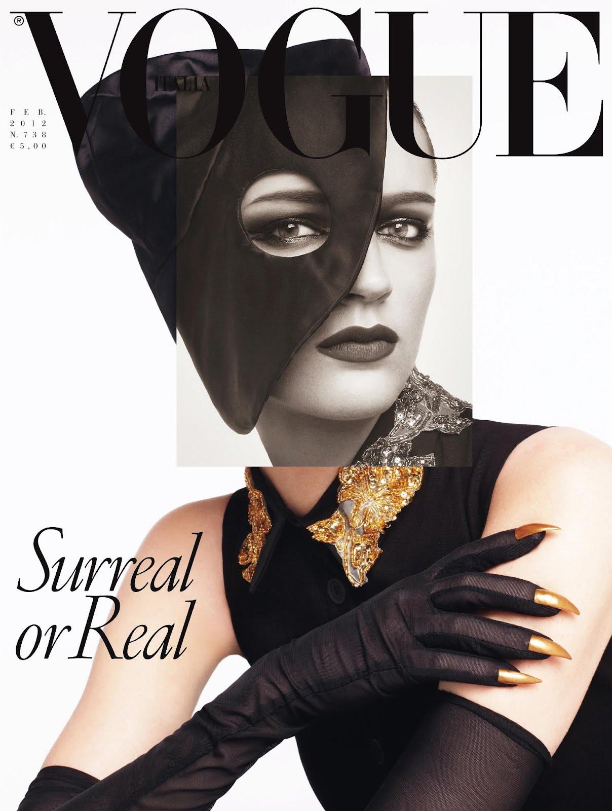 Laura Kampman for Vogue Italia, February 2012; Image: Steven Meisel/Vogue Italia