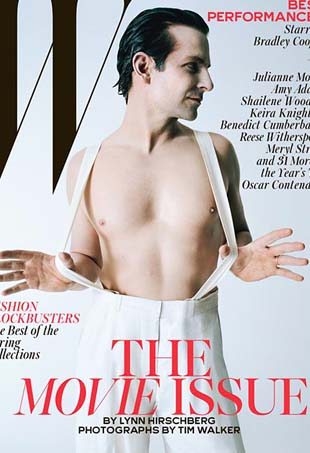 Bradley Cooper on W magazine; Image: Tim Walker