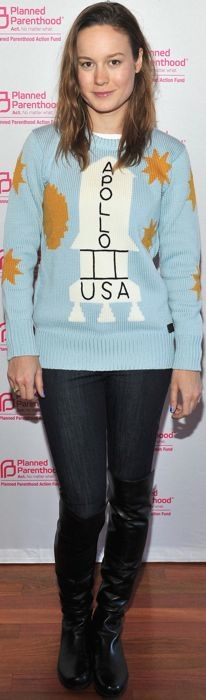 Brie Larson in a Coach Apollo sweater