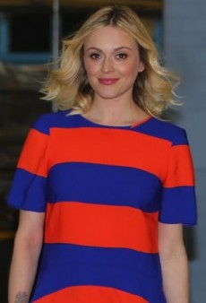 Fearne Cotton Springs Forward in a Colorful Striped Dress