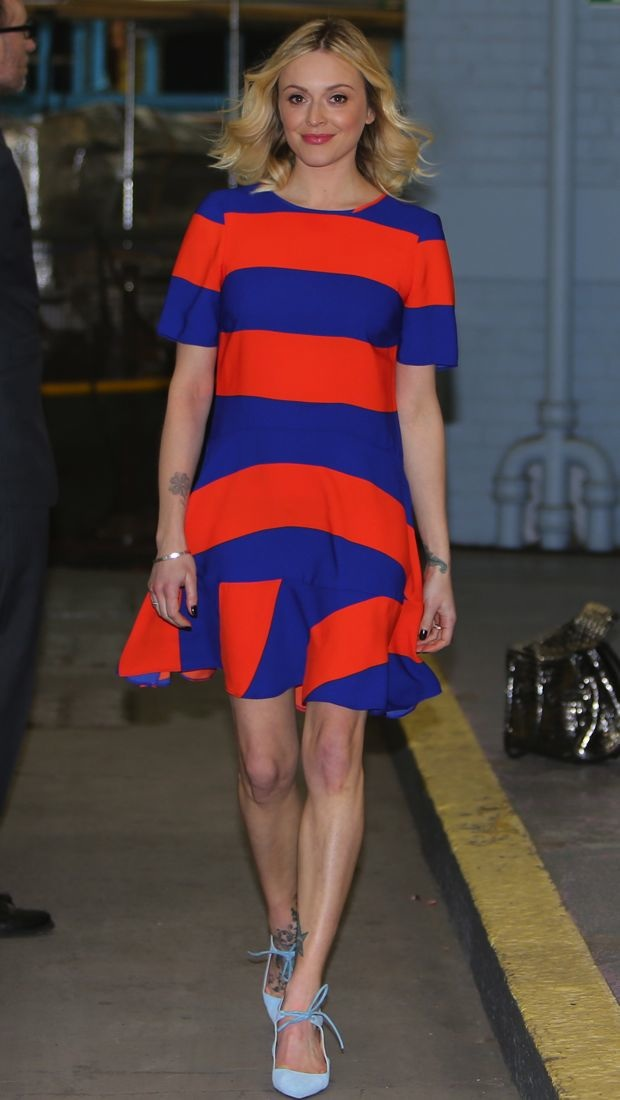 Fearne Cotton is ready for spring in a striped dress