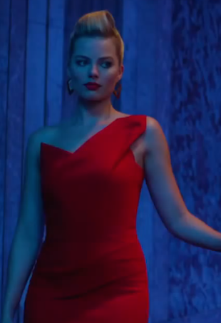 Margot Robbie Short Red Cocktail Party Celebrity Dresses In Movie ...