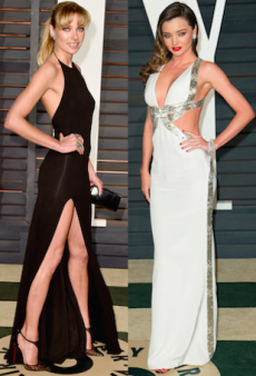 Jessica Hart Follows Miranda Kerr's Footsteps for Vanity Fair's 2015 Oscars After-Party