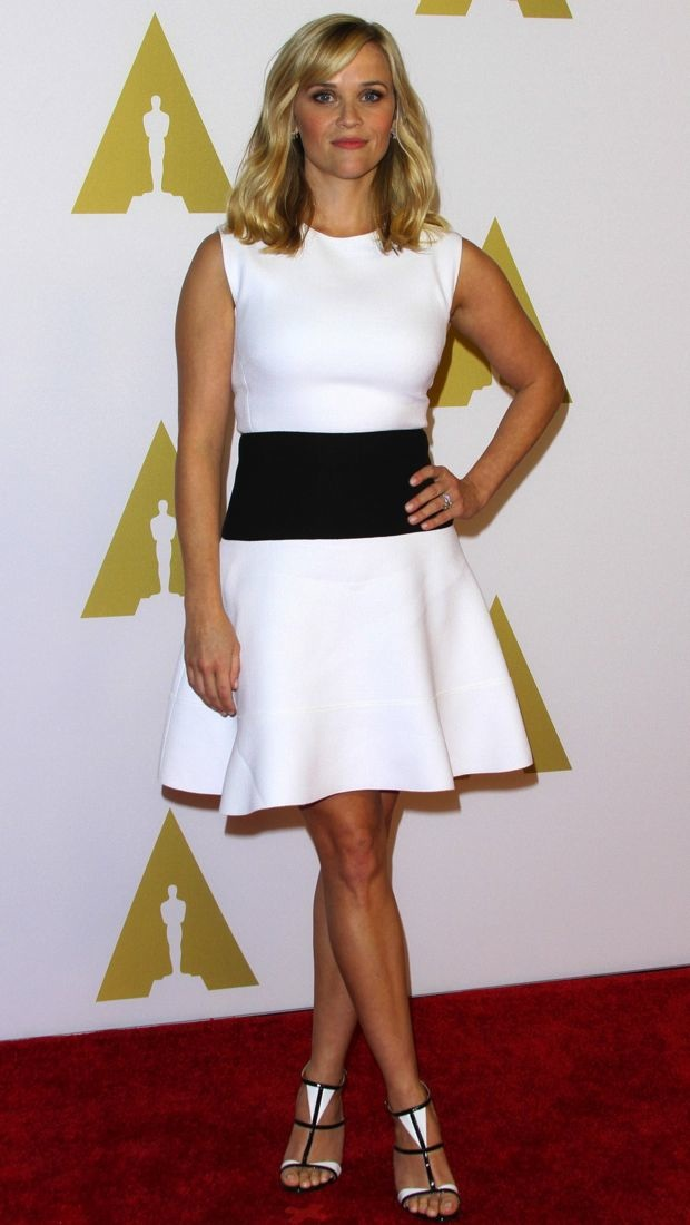 Reese Witherspoon wears Giambattista Valli to Oscar nominee luncheon