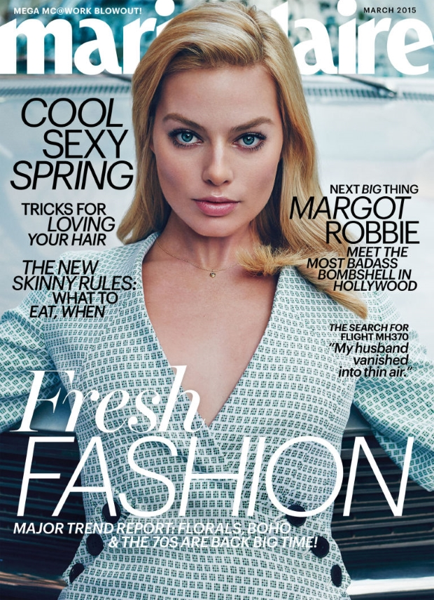 US Marie Claire March 2015 Margot Robbie