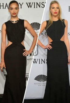 Shanina Shaik and Bo 't Jong Basically Wore the Same Thing at amfAR's 2015 Gala