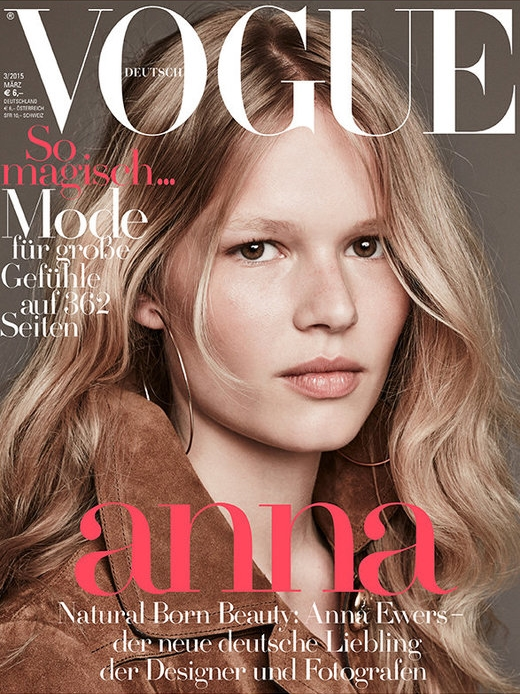 Vogue Germany March 2015 Anna Ewers