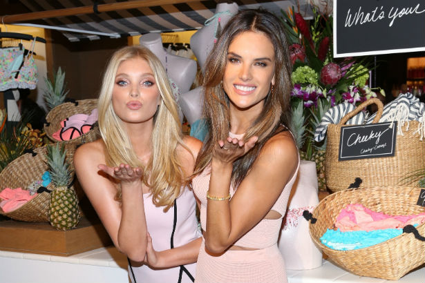 Victoria's Secret Models Elsa Hosk and Alessandra Ambrosio