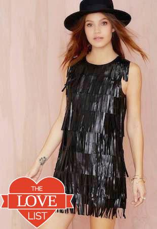 fringe leather dress