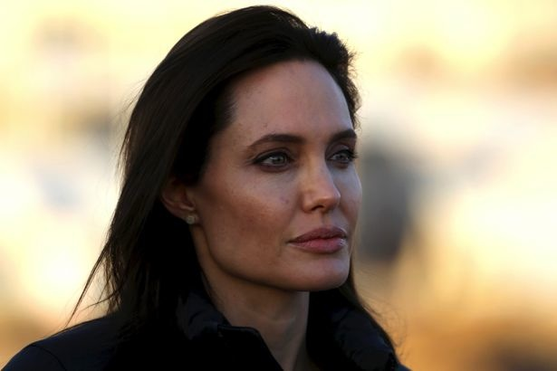 Angelina Jolie at a UN Refugee Camp