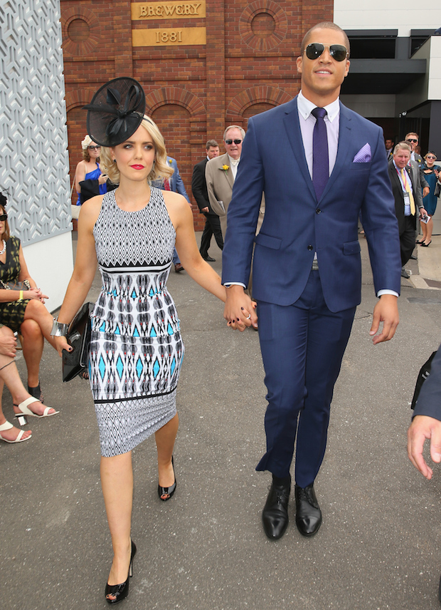 Blake Garvey and Louise Pillidge Melbourne Cup