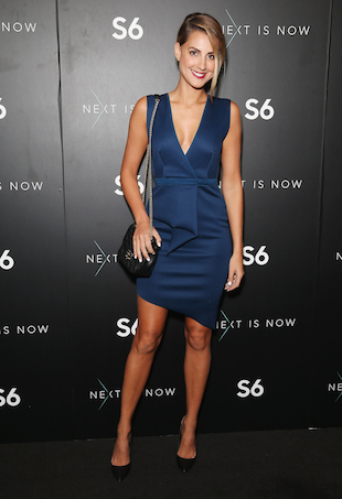 Laura Dundovic at Samsung S6 launch in Sydney