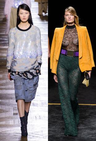 Paris Fashion Week two models on runway