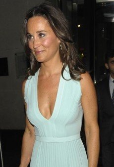 Pippa Middleton Is Pretty in Pleats Courtesy of Hugo Boss