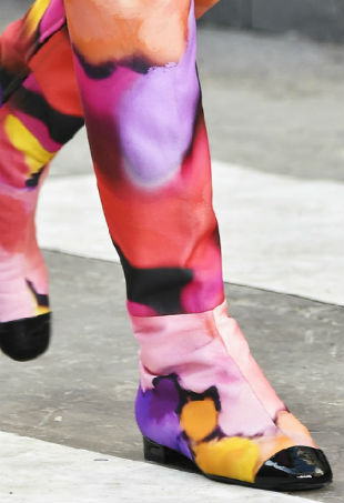 Floral boots from the Chanel Spring 2015 collection