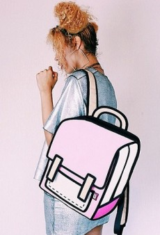Discover JumpFromPaper's 2-D Cartoon-Style Bags