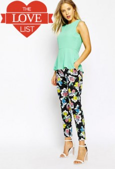 Floral Pants, Sculptural Heels and More: The Love List