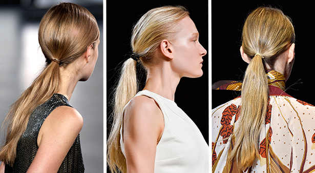 spring 2015 hair trends ponytails valli jason wu gucci