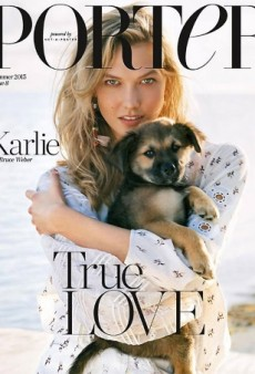 Karlie Kloss Cradles a Cute Puppy on Porter Magazine's Summer 2015 Cover (Forum Buzz)