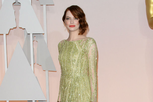 Emma Stone Oscars Red Carpet