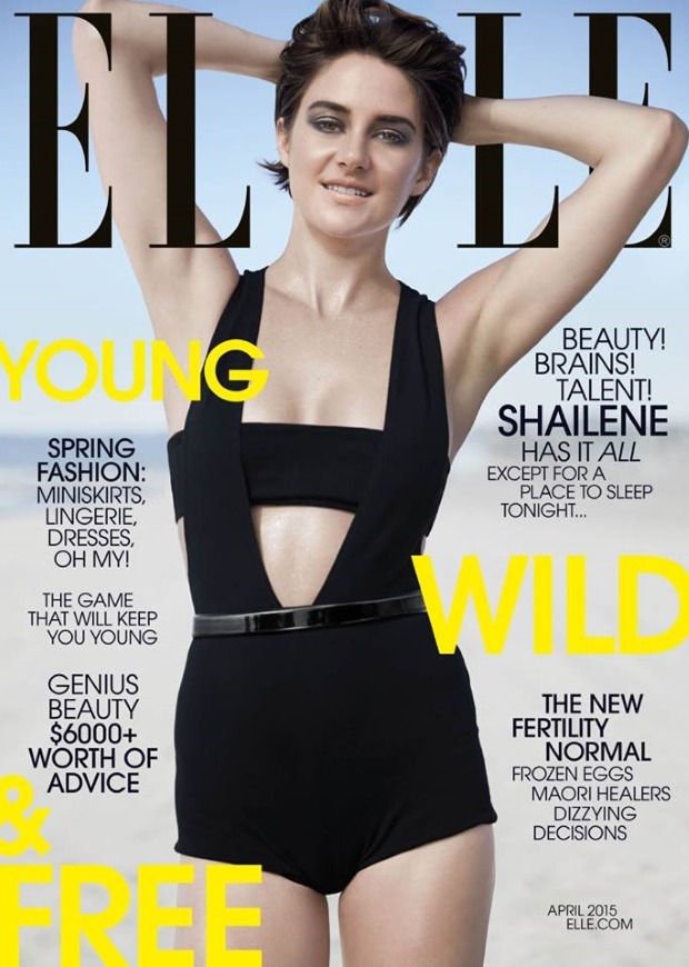 US Elle April 2015 Shailene Woodley Michael Thompson